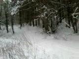 Зимние горки и падения на лыжах))часть 1